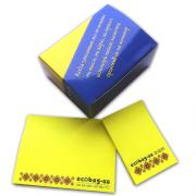 Produce custom sets of blocks with stickers type Post-it