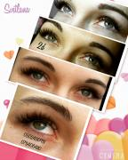 Professional eyelash extensions, painting and correction of eyebrows